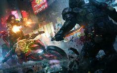 digital Art, Cyberpunk, Last Man Standing: Killbook Of A Bounty Hunter HD Wallpaper Desktop Background
