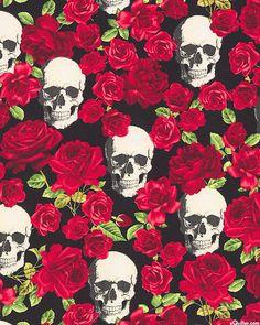 Halloween - Skulls & Roses - Quilt Fabrics from www.eQuilter.com