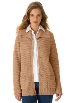Plus Size Jessica London® Basket Weave Cardigan