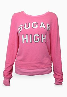 Wildfox Couture  Sugar High Baggy Beach Jumper  Get a little funky over this Wildfox Sugar High Baggy Beach Jumper. Cute pink and a brash print combine to create this great must-have top.  Color: Bel Air  Material: 47% rayon, 47% polyester, 6% spandex  Wash in cold with like colors. Lay flat to dry  #EMBELLISHME #fashion  Get yours now at www.TsAccessories2You.com.