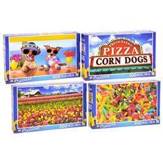 Puzzlebug 500-Piece Puzzles (Set of 4)