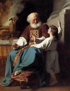 C'est par l'intermédiaire d'un homme, le prêtre Eli, que Samuel reconnaît l'appel de Dieu.