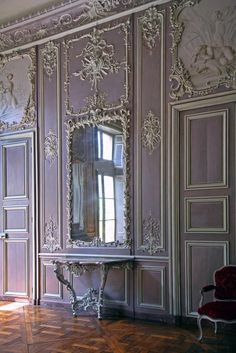 Wall of the salon after conservation, 2008 Classic Home Decor, Classic Interior, Luxury Interior Design, Classic House, Interior Styling, Interior Decorating, French Architecture, Interior Architecture, Chateau Hotel
