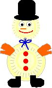 Make a Snowman - Enchanted Learning Software - Use 2 paper plates and construction paper. Can freehand the hat, gloves, boots, etc.