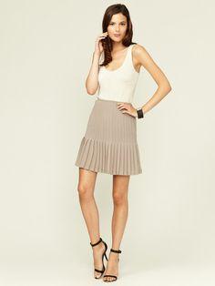 Catherine Malandrino Pleated Chiffon Skirt