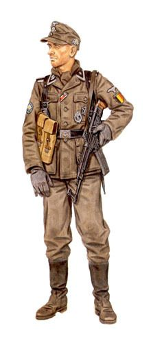 Waffen SS - Untershaffuehrer, 28ª SS Grenadier Division Wallonien, Belgian Division, Pomerania, 1945.