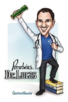 Caricatura para formatura de Medicina. #graduation #caricature #medicine