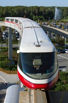 monorail: the view that you get (if you were lucky enough to get the access that this photographer got for the shot) from the Magic Kingdom end of the Contemporary