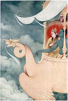 A Tagore illustration of a Hindu myth