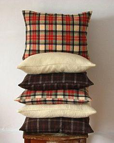 Tartan Vintage Wool Pillow
