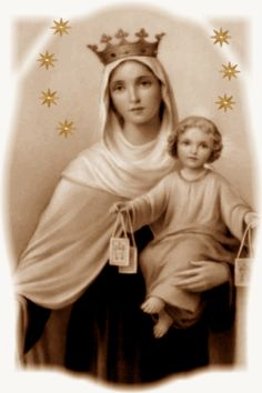 gif Feast on July 16 I Love You Mother, Mother Mary, Lady Of Mount Carmel, Mother Images, Queen Of Heaven, Virgo, Holy Mary, Madonna And Child, Heaven Sent
