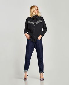 ZARA - WOMAN - SHIRT WITH METAL FRINGE