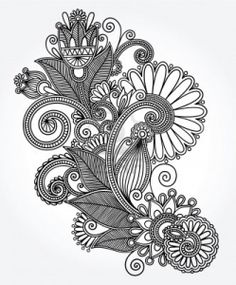 Line art design. I really like the complexity of this work and how it mimics the natural world.