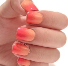 Ombre nails! Perfect for this summer!