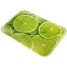 Summer Lime Limes Citrus All Over Glass Cutting Board