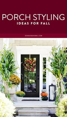 Inspiring ideas for making sure your home's style extends to your front door and beyond this fall season