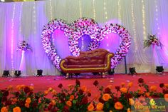 Wedding Decorations Background Black – pinveventss on stage decorations pondicherry in 2019 - Landlikes Sites Reception Stage Decor, Wedding Stage Backdrop, Wedding Backdrop Design, Wedding Stage Design, Wedding Art, Wedding Frames, Purple Wedding, Engagement Stage Decoration, Wedding Hall Decorations