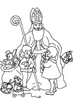 St. Nicholas Center ::: Pictures to Color Plus, 16 color pages with story of st. Nick