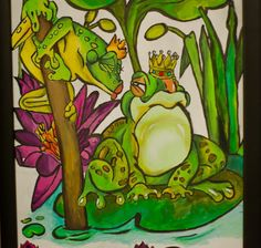 Hehe the frog prince and princess!