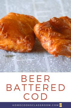 Beer Battered Cod Learn how to make classic beer battered cod. Enjoy it for fish fry Fridays, or serve it up with some french fries for a traditional fish and chips meal. Cod Fish Recipes, Fried Fish Recipes, Seafood Recipes, Calamari Recipes, Hp Sauce, Fish And Chips Batter, Beer Batter For Fish, Fish Fry Batter, Beer Batter Recipe
