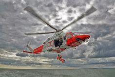 Coastguard Rescue AgustaWestland (G-SARD) operating off the Isle of Wight Coast Gaurd, Coast Guard Rescue, Us Coast Guard, Westland Helicopters, Augusta Westland, Us Military, Army & Navy, Isle Of Wight, Military Aircraft