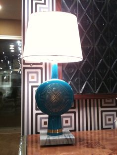 Gold and Turquoise is a heavenly combo! Jonathan Adler's Electra Table lamp is the perfect way to add a bit of glitz to your room! Interior Design Business, Room Accessories, Table Lamps, High Point, Heavenly, Accent Decor, Design Elements, Sweet Home, New Homes
