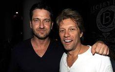 Two gorgeous men - Gerard Butler & Jon Bon Jovi. @suelimariarufino ♥ Instagram