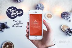 Premium photorealistic PSD mockup of the iPhone 5s White Christmas mood. Great for Christmas designs or campaign purposes. Ready to use because of smart layers.Merry Christmas to all Mocup fans!