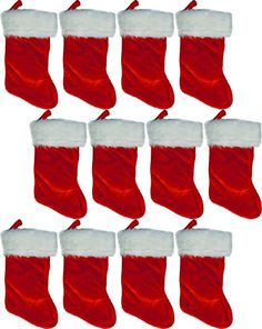 Rubies 18 Regal Christmas Holiday Felt Stocking w White Plush Cuff Red  Hanging Tag 12 Pack -- Be sure to check out this awesome product. e90317f65
