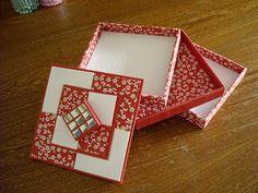 PATCHWORK - CARTONNAGE: Boîte à 3 plateaux (1er modèle)