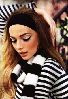 Black and white: from bold fashion to retro eye makeup, it's always elegant. #makeup