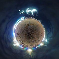 My first light painting effort shot with Ricoh Theta S #beach #lightpainting #tinyplanet #littleplanet #360photo #360view #lifein360 #instalittleplanet #360camera #360photography #360 #360photo #sphere #travel #photosphere #360panorama #spherical #planet #snapshot #camerafun #ricohtheta