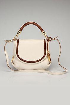 Skorpios Small Flap Shoulder Bag In Ecru