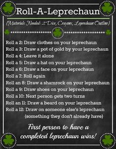 BLISSFUL ROOTS: Roll-A-Leprechaun (Fun Family Game & Printable)