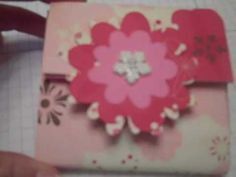 Stampin Up Cardboard Post It Note Holder