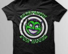 CreepShow  Shirt Funhouse Shirt Coney Island Shirt Horror Shirt Zombie Shirt Freak Show Shirt