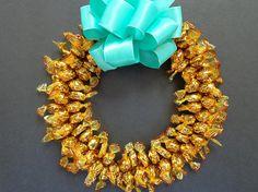 Caramel Candy Wreath Edible Gold Centerpiece Unique Gift