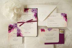 An Elegant Plum Wedding - watercolor invitations Plum Wedding Invitations, Watercolor Wedding Invitations, Wedding Invitation Design, Invites, Wedding Paper Divas, Wedding Cards, Wedding Binder, Romantic Weddings, Real Weddings