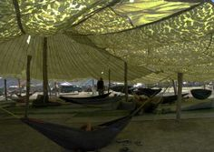Hammock camp at Burning Man is awesome. Also, they can teach you how to make your own hammock!