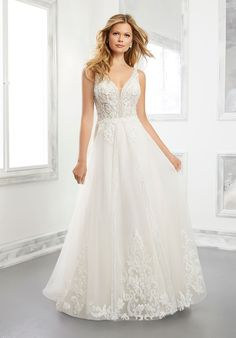 Brielle - 25723 - This beautiful aline is so figure flattering! Try her at Aurora Bridal in Melbourne, FL 321-254-3880 Wedding Dress Pictures, Stunning Wedding Dresses, Perfect Wedding Dress, Bridal Wedding Dresses, Wedding Dress Styles, Designer Wedding Dresses, Bridesmaid Dresses, Wedding Attire, Net Gowns