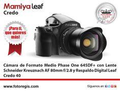 En Foto Regis Cámara de Formato Medio Phase One 645+DF+ Lente Schneider Kreuznach LS 80mm AF f/2.8 y Respaldo Digital Leaf Credo 40. Más info en info@fotoregis.com