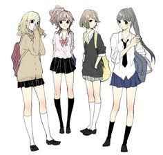 #anime .. ทะเลาะบ้าง เถียงกันบ้าง หงุดหงิดใสรกันบ้าง งอลกันบ้าง .. แต่ยังไง ก็ #เพื่อน กัน ♥
