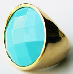 Turquoise Cocktail Ring.