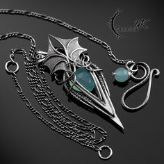 MYTHNRIALL - Silver and Chalcedony by LUNARIEEN.deviantart.com on @DeviantArt