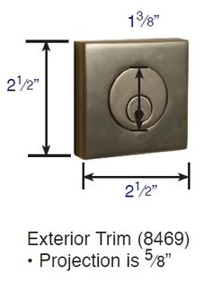 Square Style Solid Brass Deadbolt 8469