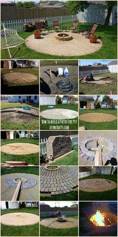 Ingenioso proyecto al aire libre : Cómo construir un fogón del patio