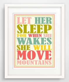 Look at this #zulilyfind! 'Let Her Sleep' Giclée Print #zulilyfinds