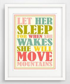 Look at this #zulilyfind! 'Let Her Sleep' Giclée Print #zulilyfinds