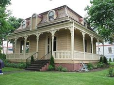 OldHouses.com - 1866 French Second Empire - Charles Brown House in Vancouver, Washington