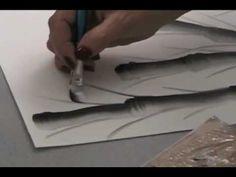 Bamboo and Bird - Chinese Brush Painting by Virginia Lloyd-Davies One Stroke Painting, Tole Painting, Acrylic Tips, Chinese Brush, Country Paintings, Easy Paintings, Brush Strokes, Painting Techniques, Art Tutorials